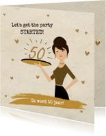 Uitnodigingen - Uitnodiging 50 jaar vrouw