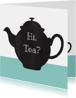 Uitnodiging high tea chalkboard