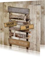 Uitnodigingen - Uitnodiging stoer sloophout op pallet
