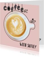 Uitnodigingen - Uitnodiging koffie