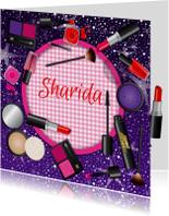uitnodiging make up glamour naam