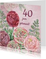 Jubileumkaarten - Uitnodiging ranonkel jubileum