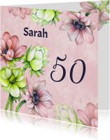 Uitnodigingen - Uitnodiging sarah anemoon