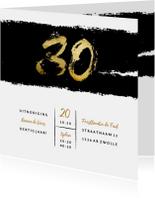 Uitnodiging stoer met zwarte inkt 30