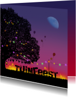 Uitnodigingen - Uitnodiging Tuinfeest nacht