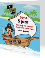 Kinderfeestjes - Uitnodiging Verjaardag feestje piraat G