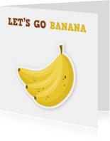 Vriendschap kaarten - uitnodigingskaart lol bananen ME