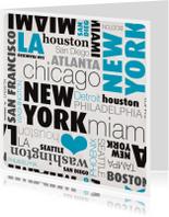 USA new york rondreis kaartje