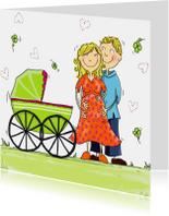 Felicitatiekaarten - Vader en moeder in verwachting