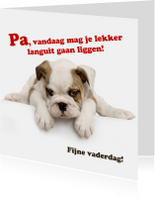 Vaderdagkaart met lief hondje