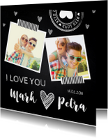 Valentijnskaart foto krijtbord
