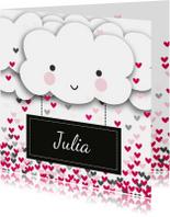Valentijnskaart wolken