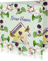 Verhuiskaarten - Verhuiskaart Droomhuis vlinder