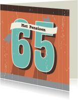 Verjaardagskaarten - Verjaardag-65 en/of Pensioen-HK