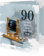 Verjaardagskaarten - Verjaardag 90 en nog steeds een scherpe blik