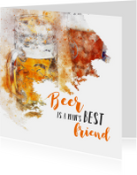 Verjaardagskaarten - Verjaardag beer is a man's best friend
