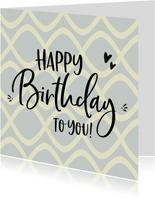 Verjaardag - happy birthday to you retro