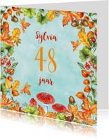 Verjaardagskaarten - Verjaardag herfst leeftijd