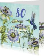Verjaardagskaarten - Verjaardag hummingbird tropisch