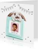 Verjaardagskaarten - Verjaardag - Konijn met fotolijst