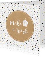 Verjaardagskaarten - Verjaardag make a wish - SV