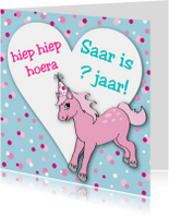 Verjaardag Meisje Pony