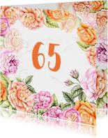 Verjaardag rozen aquarel