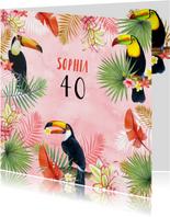 Verjaardagskaarten - Verjaardag tropisch toekan