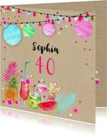 Verjaardagskaarten - Verjaardag tropische sfeer
