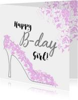 Verjaardagskaarten - Verjaardag Vrouw Pump