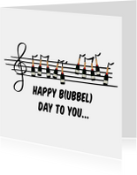 Verjaardagskaarten - Verjaardagskaart Bubbels