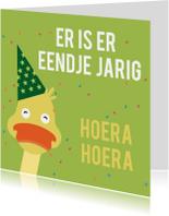Verjaardagskaarten - Verjaardagskaart eend jarig ME