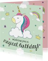 Verjaardagskaarten - Verjaardagskaart Eenhoorn