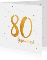 Verjaardagskaart happy 80 jaar