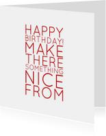 verjaardagskaart happy b - LB