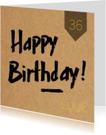 Verjaardagskaarten - Verjaardagskaart hip man