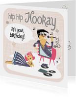 Verjaardagskaarten - Verjaardagskaart in  jaren '50 stijl