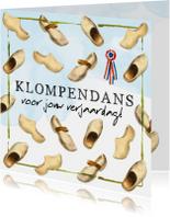 Verjaardagskaarten - Verjaardagskaart 'Klompendans'