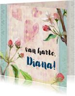 Verjaardagskaarten - Verjaardagskaart, lente bloesem