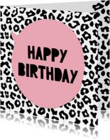 Verjaardagskaarten - Verjaardagskaart Luipaard Print