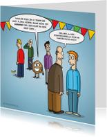 Verjaardagskaarten - Verjaardagskaart met grappige cartoon 'humoristische noot'