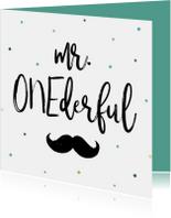 Verjaardagskaart Mr. ONEderful