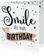 Verjaardagskaart Smile - 99