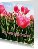 verjaardagskaart tulpen I -LB