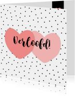 Felicitatiekaarten - Verlovingskaartje Harten - WW
