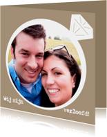 Verlovingsring wij zijn verloofd