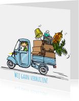 Vespa Ape verhuisauto