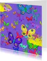 Zomaar kaarten - Vlinder paars
