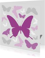 Vlinders paars met grijs