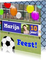 Voetbal reclame jarige zelf invullen
